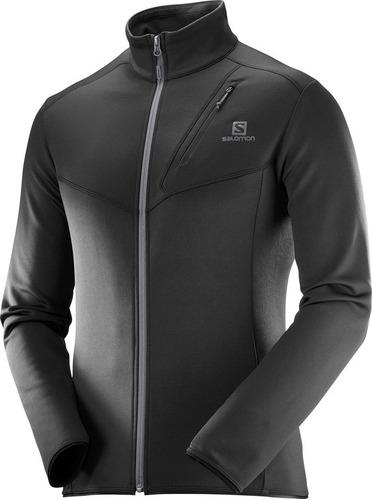 casaca masculina salomon - discovery fz m negro/negro - trai