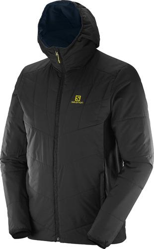 casaca  masculina salomon-drifter mid hoodie m negro-hiking