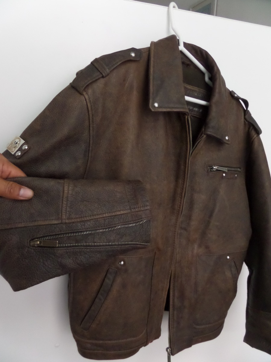 6e47787b3ab casaca moto motociclista cuero natural biker chamarra. Cargando zoom.