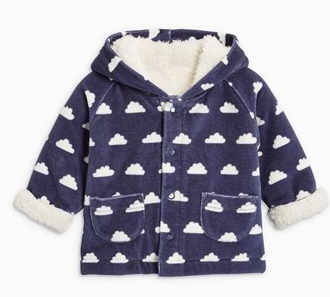 casaca polar abrigo con capucha bebes 0-3 meses next.co.uk
