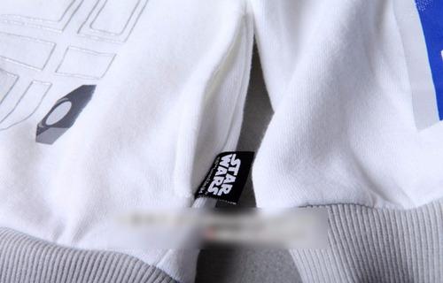 casaca star wars r2d2 para niño original  tallas 2 al 6