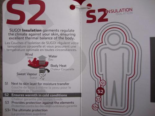 casaca sugoi.con regulador del calor corporal talla large