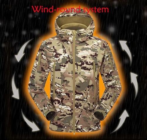 casaca tactica en softshell - uso militar / a pedido