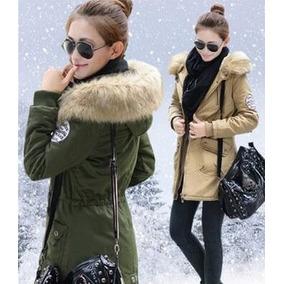8758c357f Parkas Mujer Con Capucha Casaca Moda Coreana Abrigo Invierno