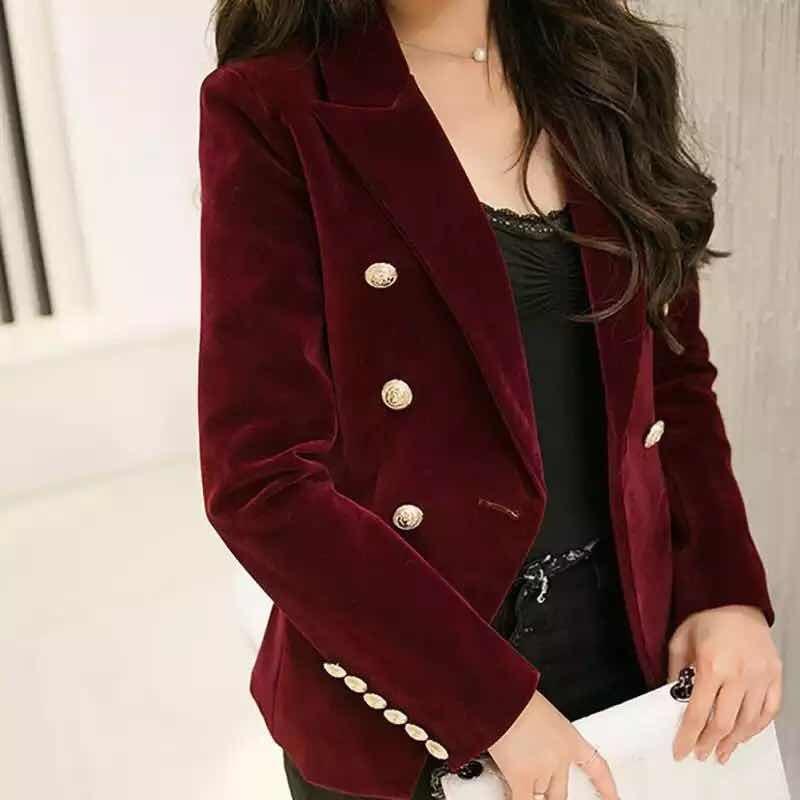 d413025a03 casaco blazer aveludado feminino vinho. Carregando zoom.