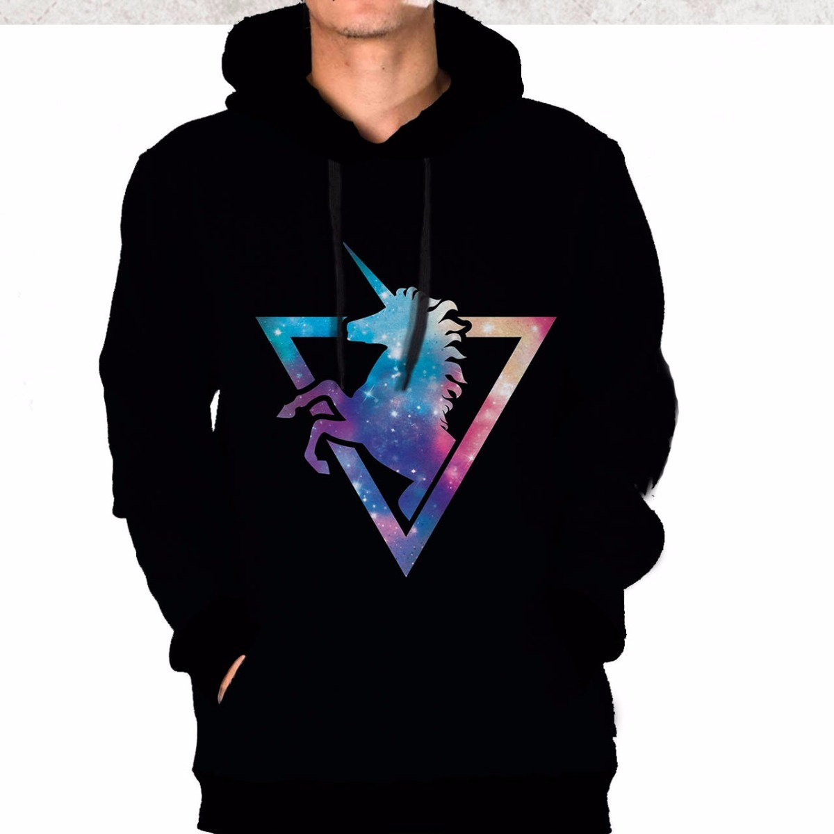 ceb77d0ea casaco blusa moletom unicórnio universo triângulo tumblr. Carregando zoom.