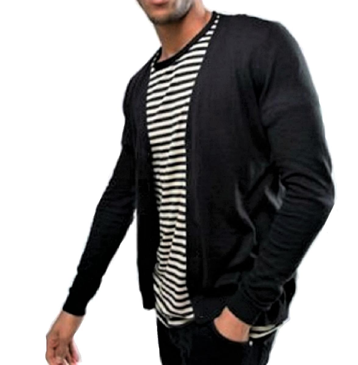 22f747f2f Casaco Cardigan Calvin Klein Masculino - R$ 249,90 em Mercado Livre