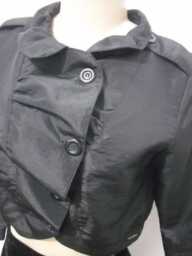 casaco casaqueto festa preto forrado tm p usado bom estado