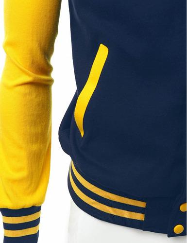 casaco college jaqueta baseball ny blue yellow usa americana