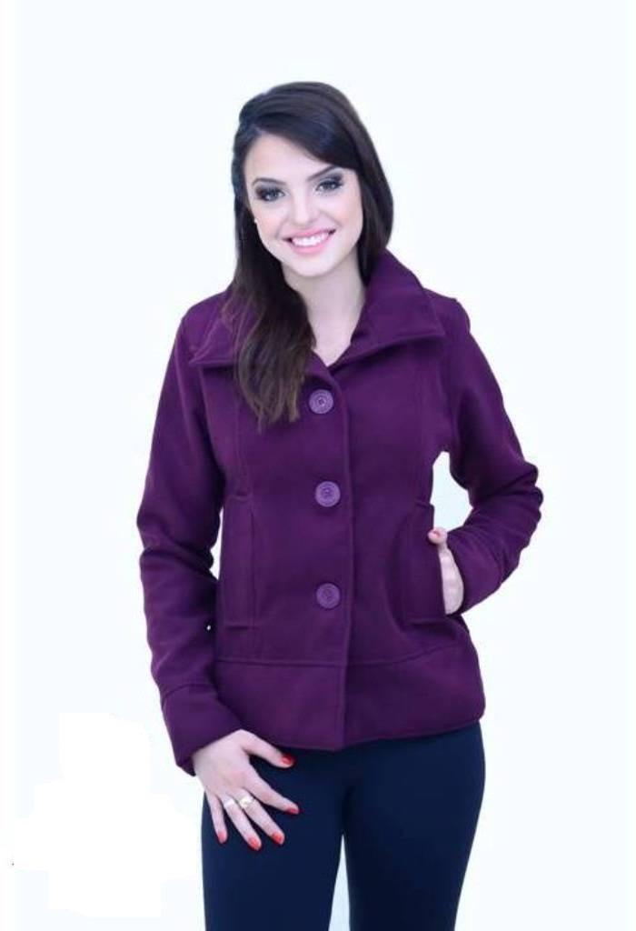 1e9c5b4a4 casaco curto jaqueta de lã batida nacional inverno 2015. Carregando zoom.