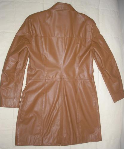 casaco de couro caramelo