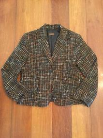 5b7e9078d6 Casaco De Lã Tweed Tipo Chanel Tamanho Grande