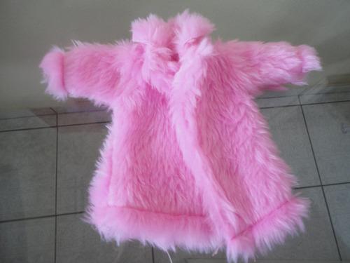 casaco de pele de luxo p/ boneca barbie