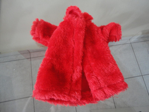 casaco de pele de luxo p/ boneca barbie - imperdivel
