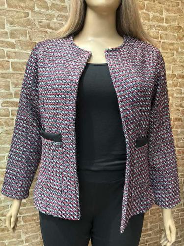 casaco em tweed real plus size do tam. 46 ao 52