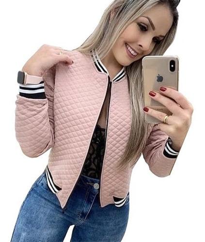 casaco feminino blusa de frio jaqueta outono inverno bomber