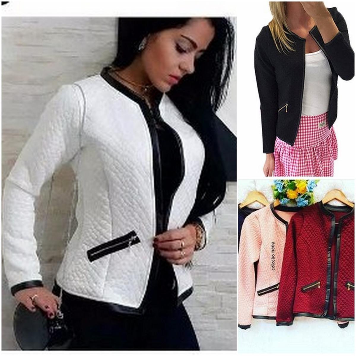 a2f353b93f casaco feminino blusa de frio jaqueta outono inverno corino. Carregando  zoom.