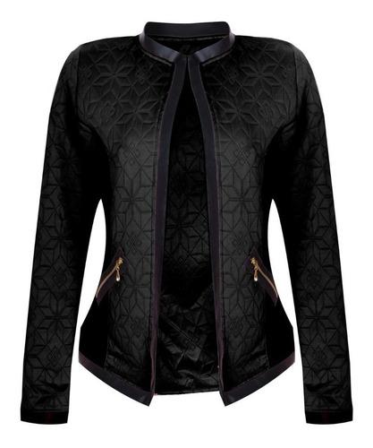 casaco feminino blusa de frio jaqueta outono inverno corino
