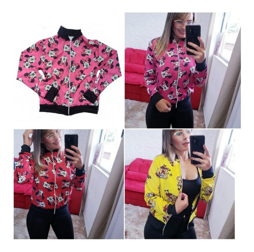 casaco feminino bomber jaqueta estampadas floral 10 atacado