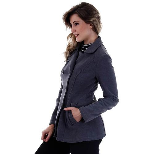 casaco feminino facinelli - grafite