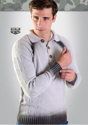casaco gola polo de algodão ref.:42002-001