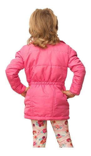 casaco infantil com elástico na cintura 1 a 16 anos  inverno