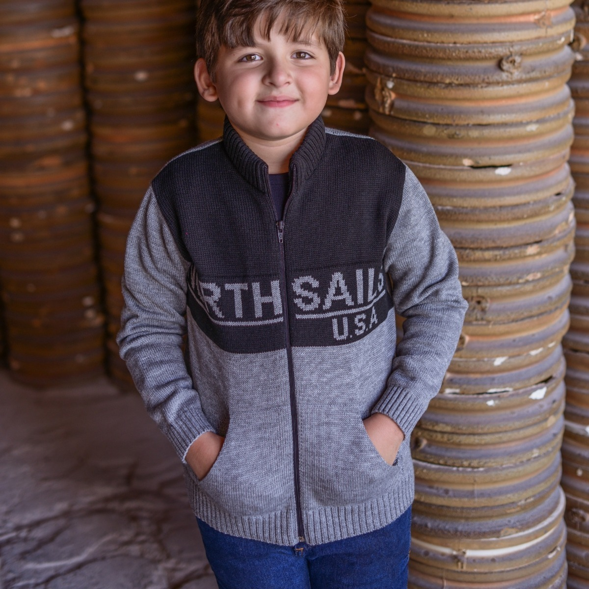 7bf0c2c9c3 casaco infantil inverno blusa quentinha de tricot menino. Carregando zoom.