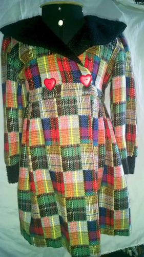 casaco infantil lãnzinha xadrez