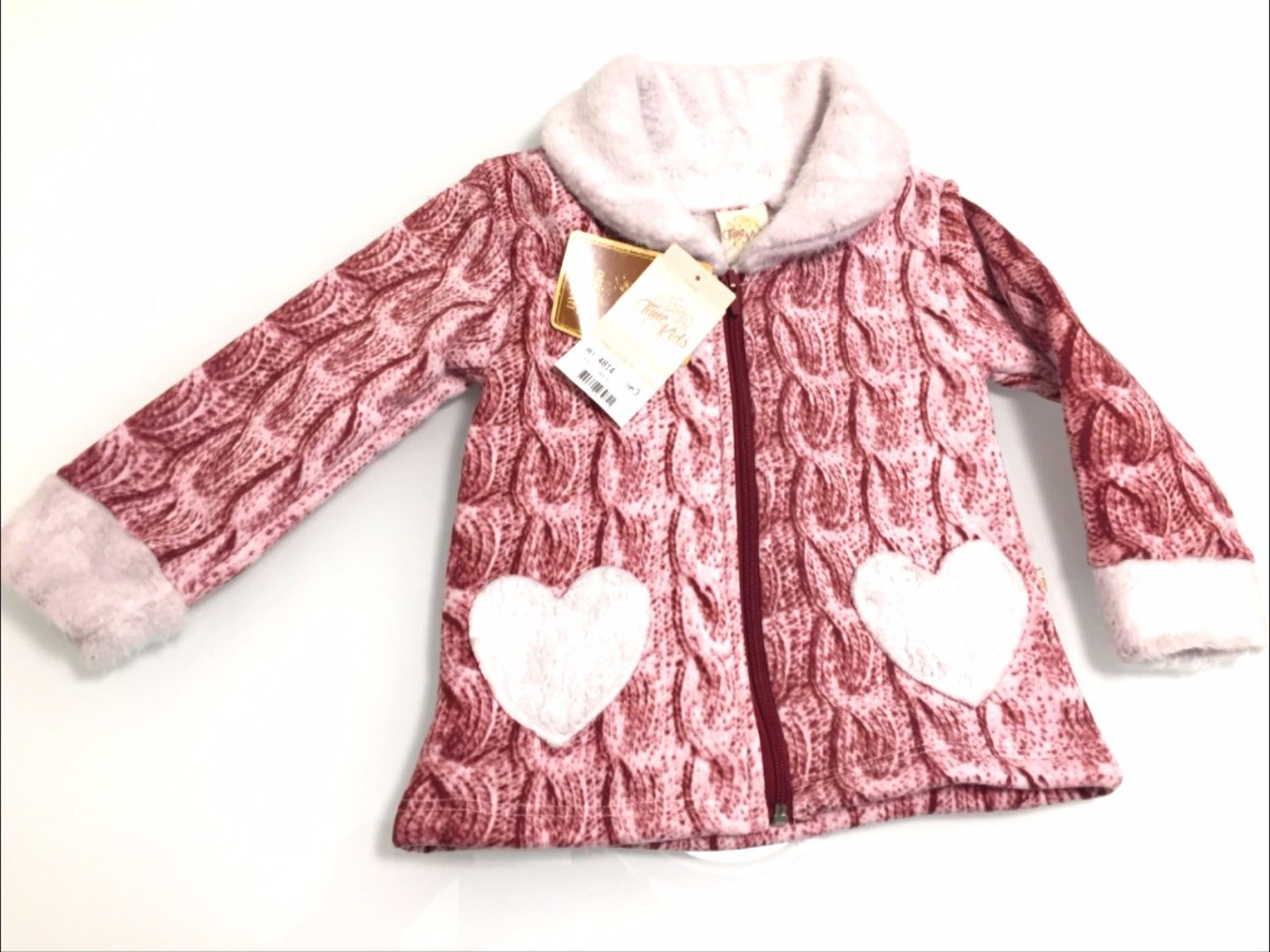 ef7224239 casaco infantil roupa inverno coração jaqueta frio menina. Carregando zoom.