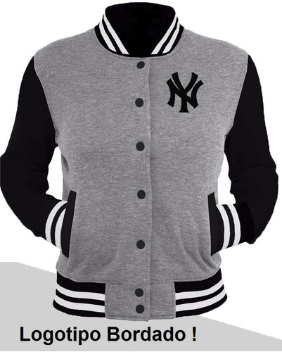 casaco jaqueta blusa baseball ny bordado college americana !