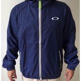 casaco jaqueta blusa corta vento oakley azul refletivo top