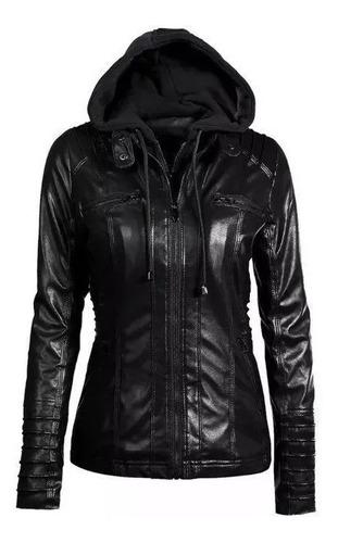 casaco jaqueta feminina em couro forro pelucia. ref: 418