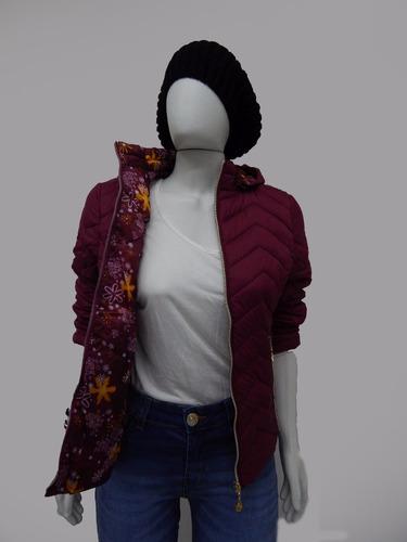 casaco jaqueta feminina nylon capuz toca removível  forrado