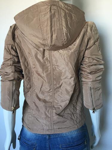 casaco jaqueta feminina nylon matelasse blogueira slim capuz