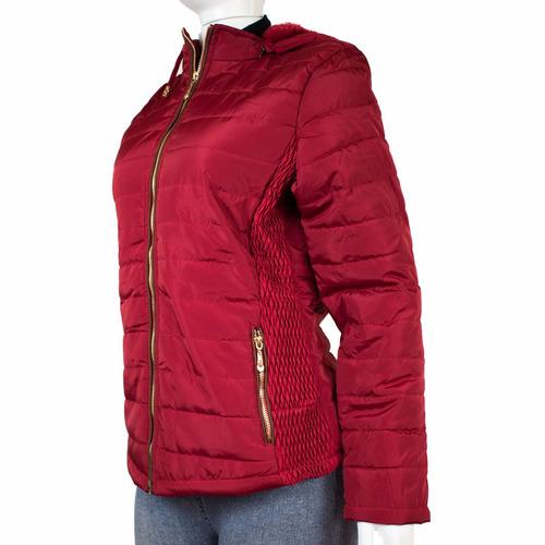 casaco jaqueta feminino forrada c/ pelos e capuz  zh-5013m