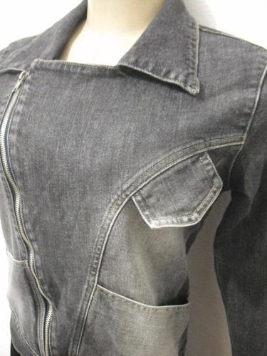 casaco jaqueta jeans perfecto moto preta m hone bom estado