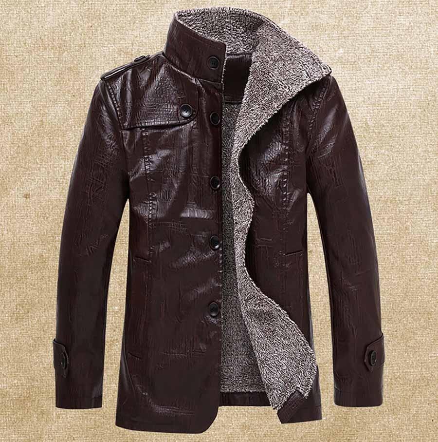 a06e9c26f6 Casaco Jaqueta Pele Sintética Masculino Importado 270 - R  210
