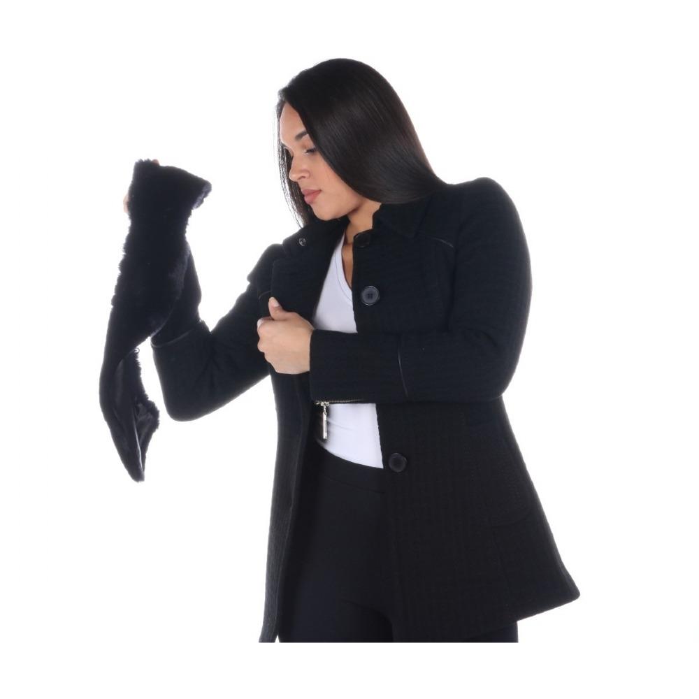 bd34f789a casaco malise feminino 7/8 lã brocado gola fake removível zí. Carregando  zoom.