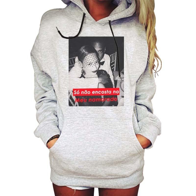 casaco moletom blusa feminina bitch swag oversized ranço. Carregando zoom. 329da9b90f058