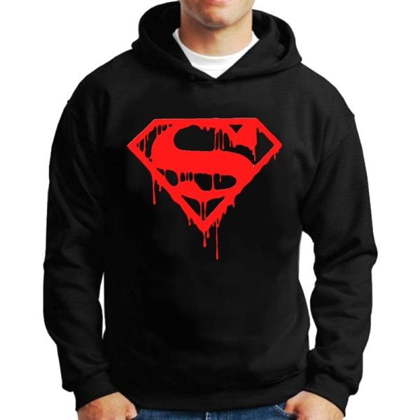 5b6e15d61 Casaco Moletom Superman Super Homem Herói Blusa Frio Preto - R  100 ...