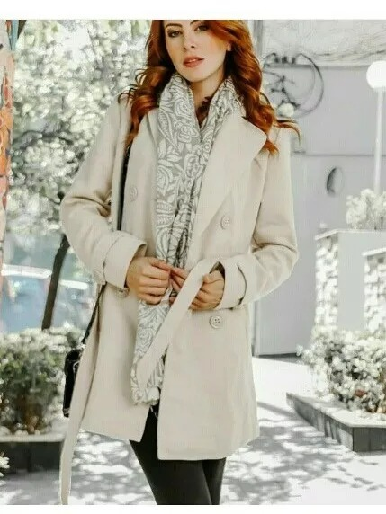 6279ea1e1b9 Casaco Sobretudo Feminino Inverno Lançamento 2018 Ref 166 - R  178 ...