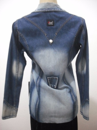 casaco sobretudo jeans tam p usado bom estado vicio fatal