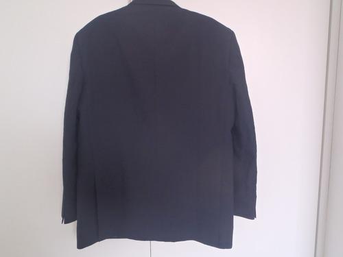 casaco terno masculino azul marinho escuro gg poliester