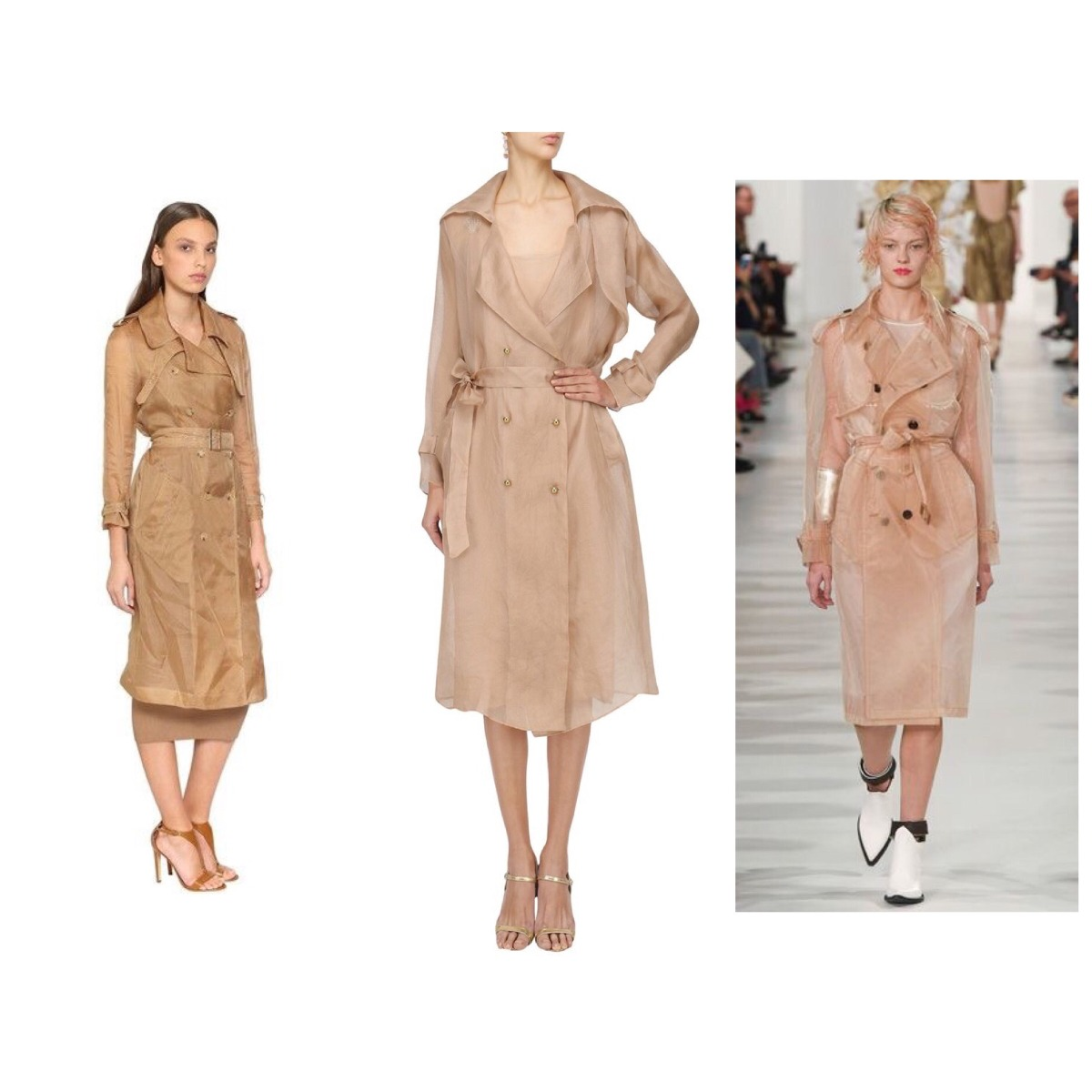 60080502d casaco trench coat fórum organza dourado 38. Carregando zoom.