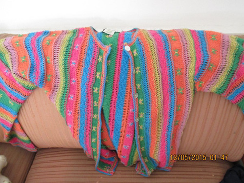 casaco tricô feminino susan bristol s importado(semi-novo)