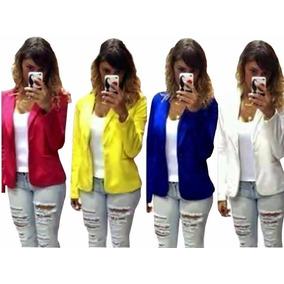 ddbb77d2ff Jaqueta Aviaçao - Blazer para Feminino Amarelo no Mercado Livre Brasil