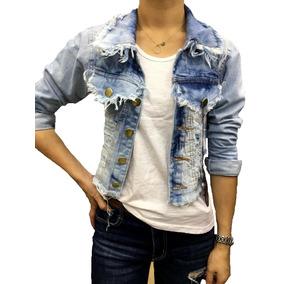 29a8528e3091f Jaqueta Curta Jeans Feminina Branco Ou Azul Moda 2018