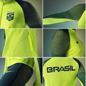3bb6bd8996c15 Jaqueta Nike Brasil Olimpiadas 2016 - Casacos no Mercado Livre Brasil