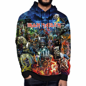 Moletom Number Iron Maiden Eddie Rock Metal Banda 666 Beast