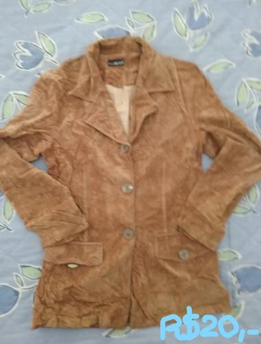 casacos couro e camurça - otima conservação